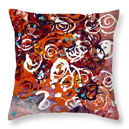 Floral Throw Pillow featuring the painting Celebration Bouquet by Nadine Rippelmeyer