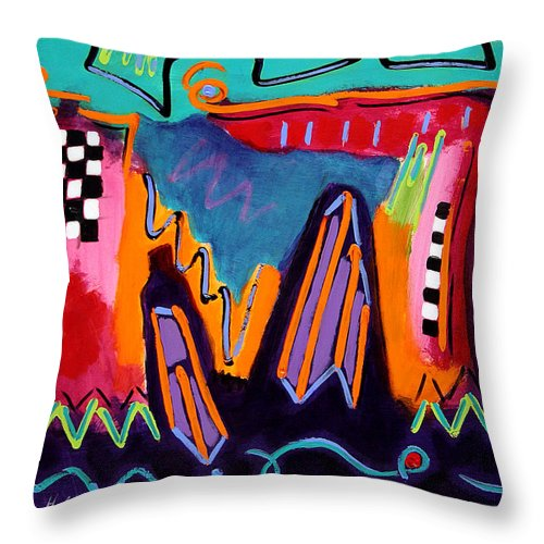 Contemporary Art Throw Pillow featuring the painting Celebration by Linda Holt