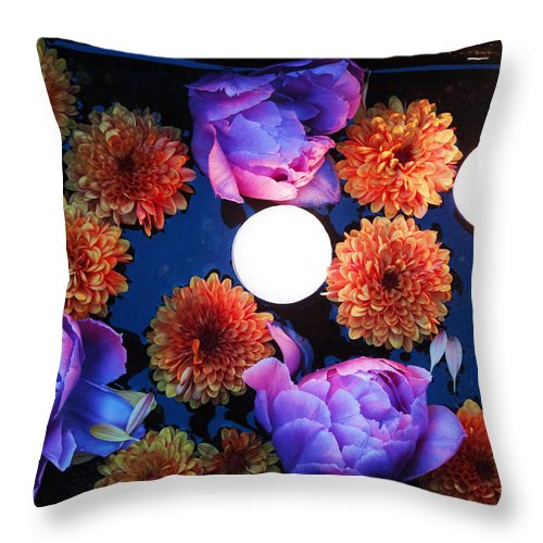 Flowers Throw Pillow featuring the photograph Celebration Of Life - All Souls Night by Lesley DeHaan