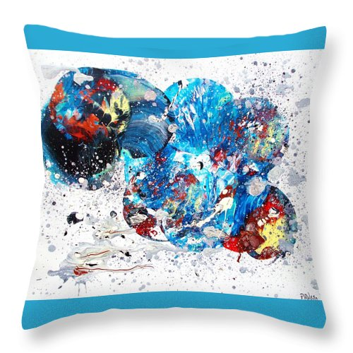 Original Throw Pillow featuring the painting Celestial Chaos by Roberto Prusso