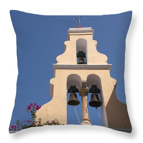 Corfu Throw Pillow featuring the photograph Celestial Music by Brenda Kean