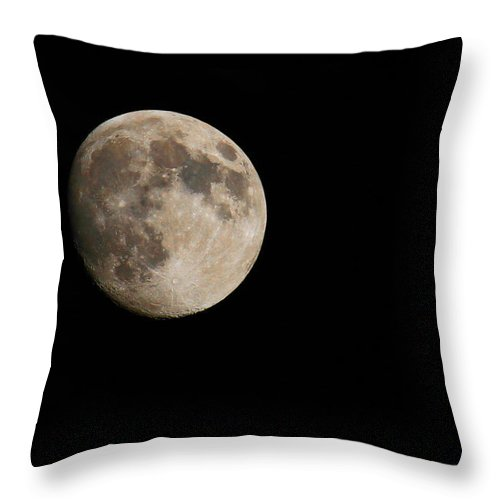 Moon Throw Pillow featuring the photograph Celestial by Winston Rockwell