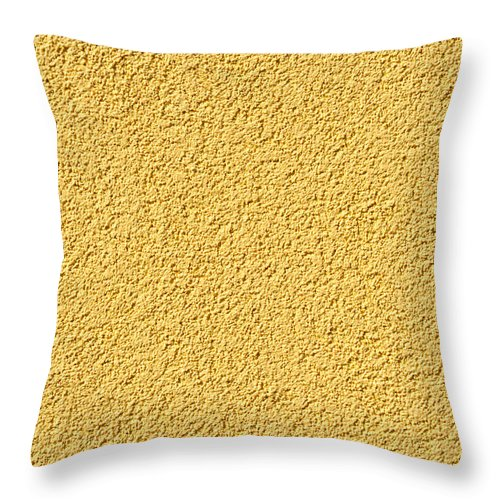 Abstract Throw Pillow featuring the photograph Cement - Stucco Wall Texture by Alain De Maximy