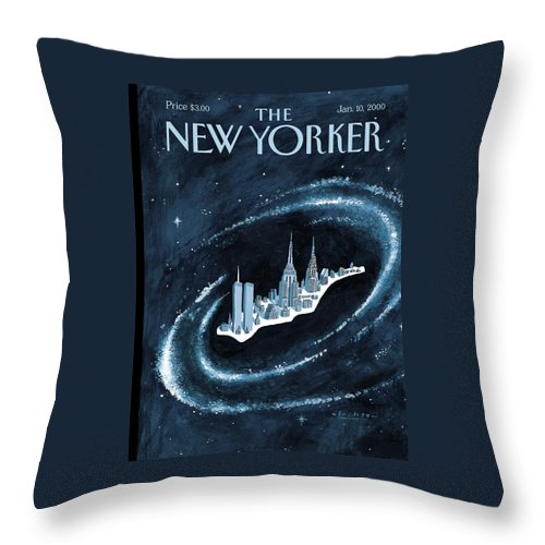 Center Throw Pillow featuring the painting Center Of The Universe by Mark Ulriksen