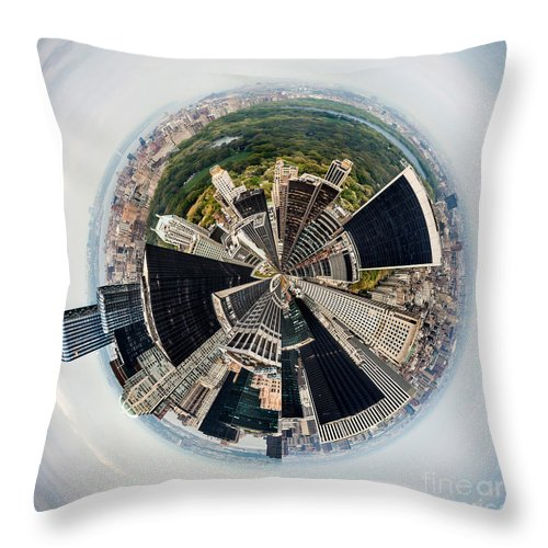 United Throw Pillow featuring the photograph Central Park View Circagraph by Az Jackson