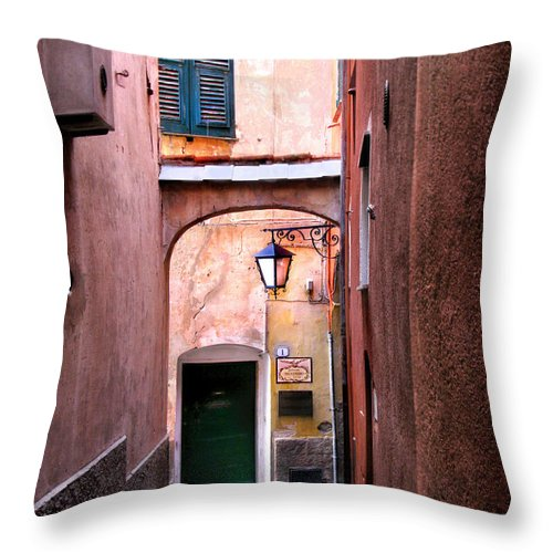Cervo Throw Pillow featuring the photograph Cervo.italy by Jennie Breeze