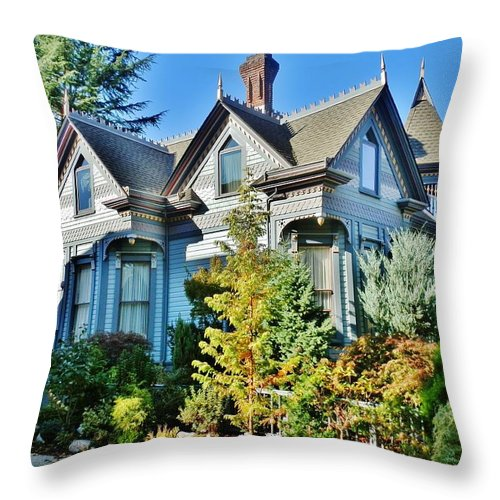 House Throw Pillow featuring the photograph C'est La Vie by VLee Watson