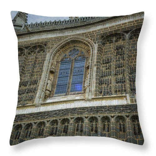 Architecture Throw Pillow featuring the photograph Chains by Joan Carroll