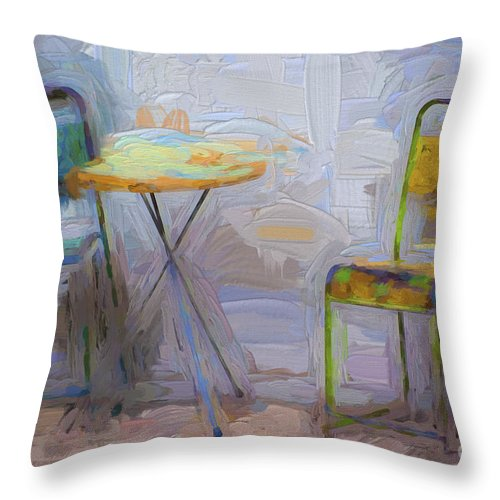 Chairs Throw Pillow featuring the photograph Chairs by Sheila Smart Fine Art Photography