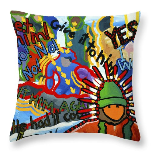 Challenge Throw Pillow featuring the painting Challenge To Action by Lynn Hansen