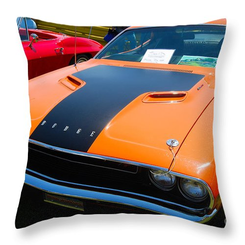 American Muscle Car Throw Pillow featuring the photograph Challenger Rt by Mark Spearman