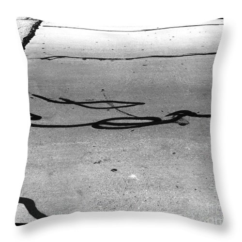 Black And White Photography Throw Pillow featuring the photograph Challenges by Fei A