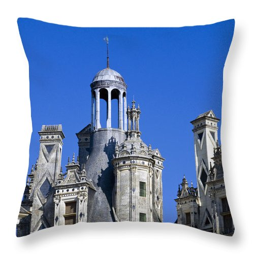 Chambord Chateau France Chateaus Castle Castles Structure Structures Architecture Throw Pillow featuring the photograph Chambord Chateau by Bob Phillips