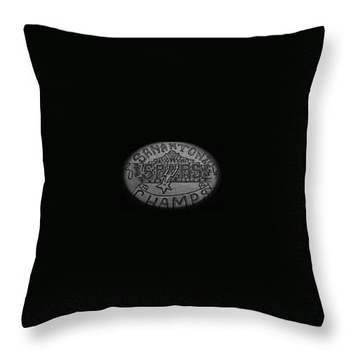 Alamo Throw Pillow featuring the drawing Champs by Bryan Oes
