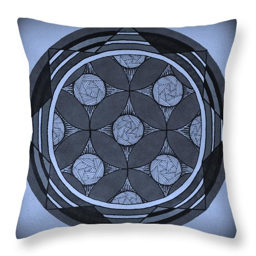 Symmetry Throw Pillow featuring the drawing Change by Kirsten Britt