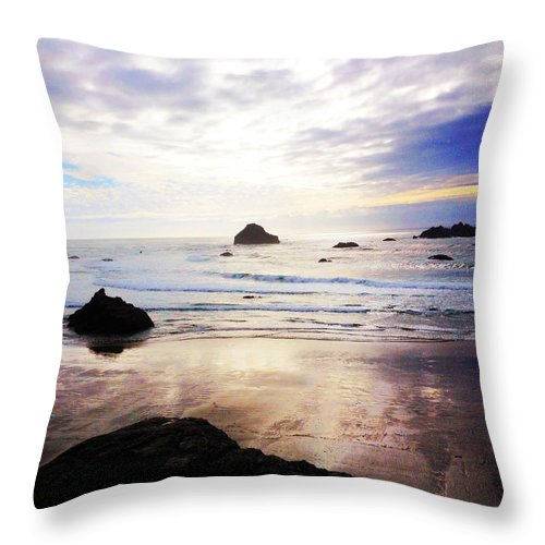 Oregon Coast Throw Pillow featuring the photograph Changes by Becky Thompson