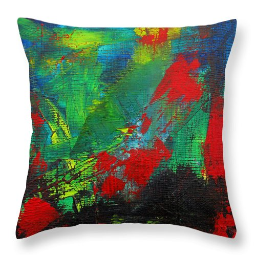 Art Throw Pillow featuring the painting Chaotic Hope by Patricia Awapara