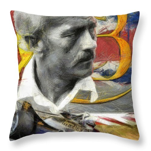 Porsche Throw Pillow featuring the painting Chapman Tribute by Tano V-Dodici ArtAutomobile