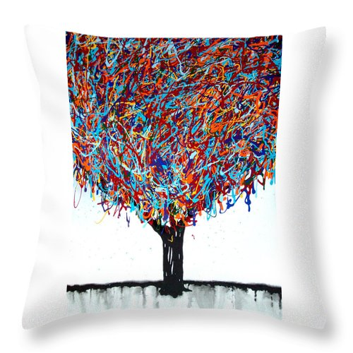 Painting Throw Pillow featuring the painting Character by Bryan Dubreuiel