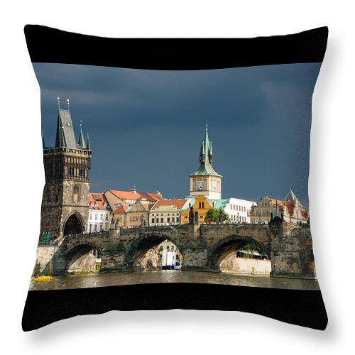 Charles Brigde Throw Pillow featuring the photograph Charles Bridge Prague by Matthias Hauser