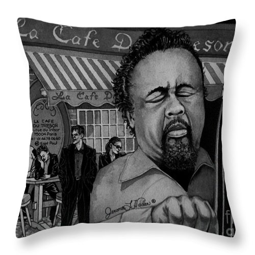 Jazz Throw Pillow featuring the painting Jazz Charles Mingus Jr by JL Vaden