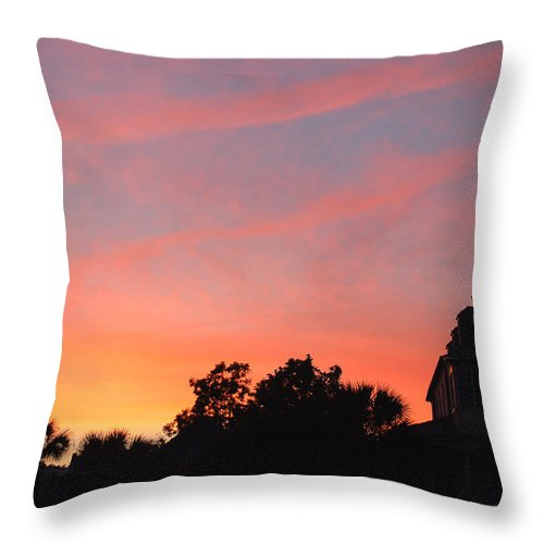 Charleston Throw Pillow featuring the photograph Charleston At Dusk by Suzanne Gaff
