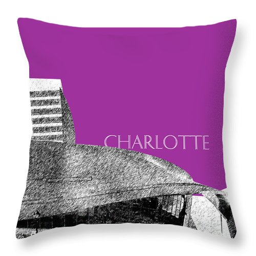 Architecture Throw Pillow featuring the digital art Charlotte Nascar Hall Of Fame - Plum North Carolina by DB Artist