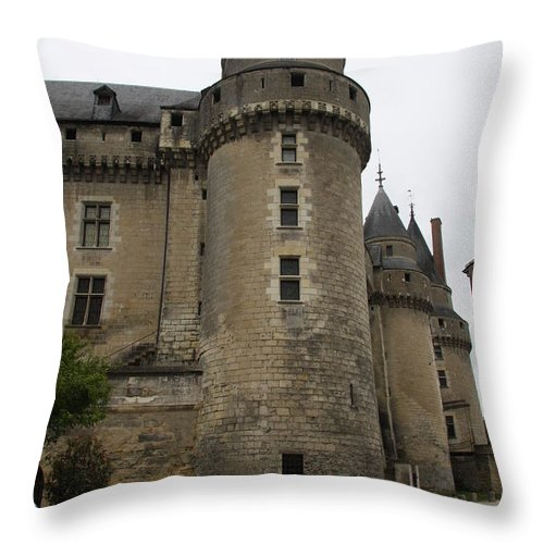 Castle Throw Pillow featuring the photograph Chateau De Langeais - France by Christiane Schulze Art And Photography
