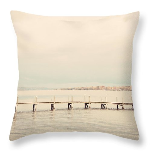 New York Throw Pillow featuring the photograph Chautauqua Lake by Erin Johnson