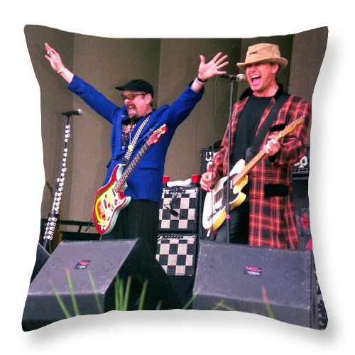Chicago Throw Pillow featuring the photograph Cheap Trick by Sheryl Chapman Photography