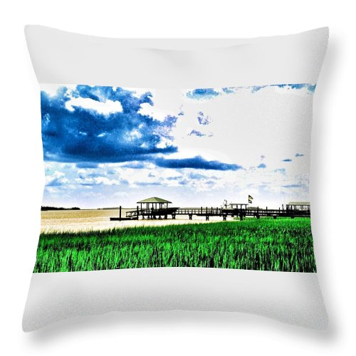Chechessee River Throw Pillow featuring the photograph Chechessee River Style by Patricia Greer