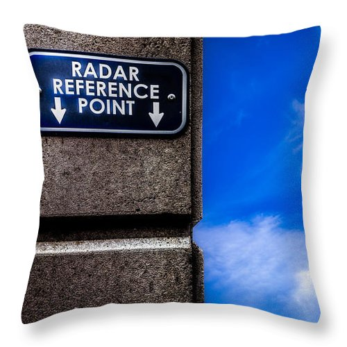 Radar Reference Point Throw Pillow featuring the photograph Check Your Radar Here by Bob Orsillo