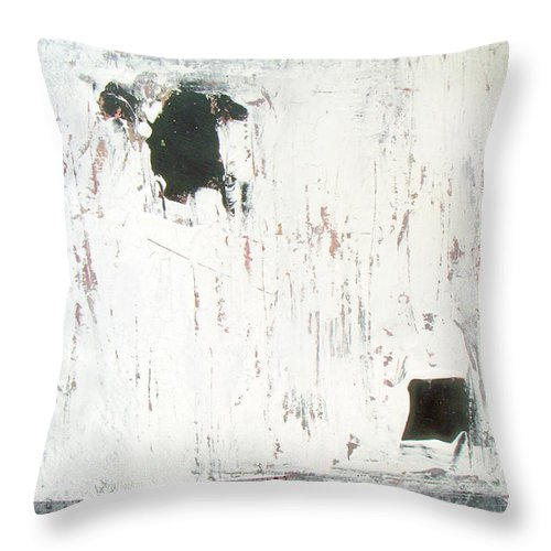 Checkboard Throw Pillow featuring the painting Checkboard by Davina Nicholas