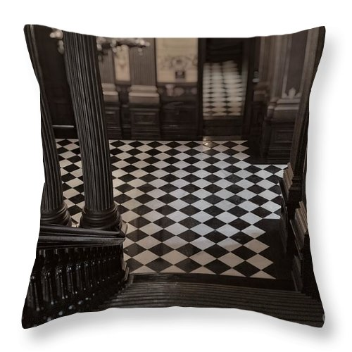 Checkerboard Throw Pillow featuring the photograph Checkerboard by Chris Fleming