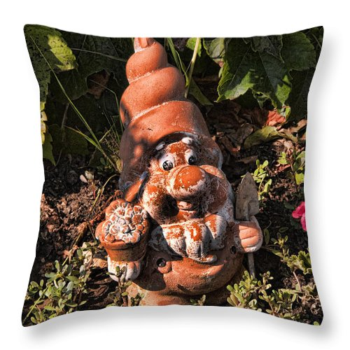 Corfu Throw Pillow featuring the photograph Cheeky Chappy by Brenda Kean