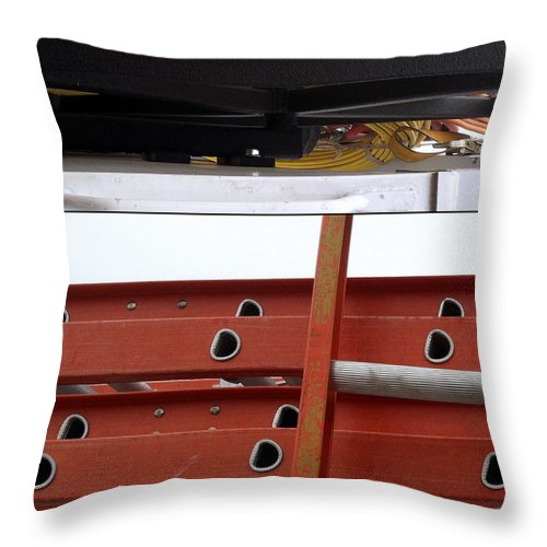 Construction Throw Pillow featuring the photograph Cheery O's by Marlene Burns