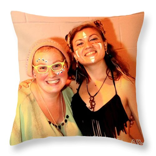 Rootspire 2 Of Rootwire Transformational Arts Festival 2k14 Throw Pillow featuring the photograph Chef Lasers by PJQandFriends Photography