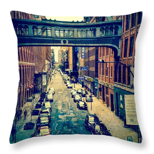 Architecture Throw Pillow featuring the photograph Chelsea Street As Seen From The High Line Park. by Amy Cicconi