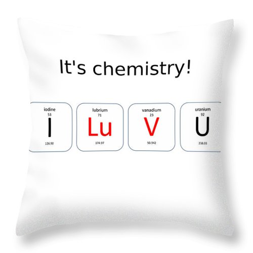 Chemistry I Luv U Throw Pillow For Sale By Richard Reeve
