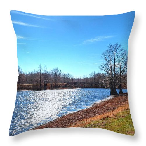 Louisiana Throw Pillow featuring the photograph Cheniere Lake West Monroe by Ester Rogers