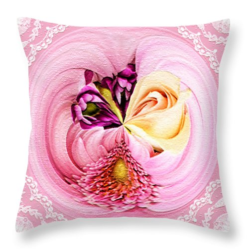 Cherish Throw Pillow featuring the photograph Cherished Bouquet by Paula Ayers