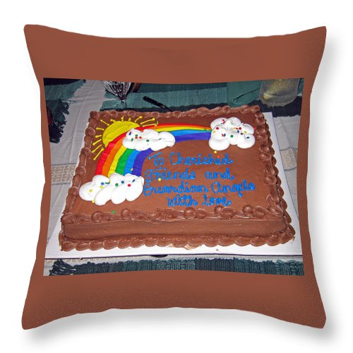 Cake Throw Pillow featuring the photograph Celebration To Cherished Friends by Jay Milo