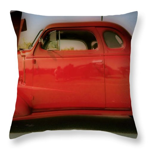 Hdr Throw Pillow featuring the photograph Cherry Bomb  Hdr by Thomas MacPherson Jr