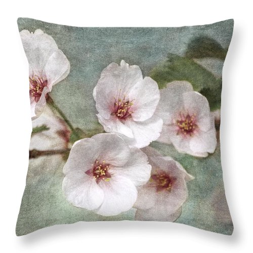Cherry Blossoms Throw Pillow featuring the photograph Cherry Bouquet by Theo O'Connor