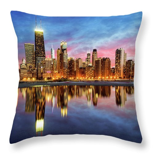 Tranquility Throw Pillow featuring the photograph Chicago by Joe Daniel Price
