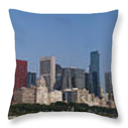 Chicago Throw Pillow featuring the photograph Chicago Panorama by Kevin Eatinger