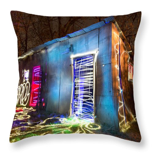 Throw Pillow featuring the photograph Chicken Shack by Chris Look
