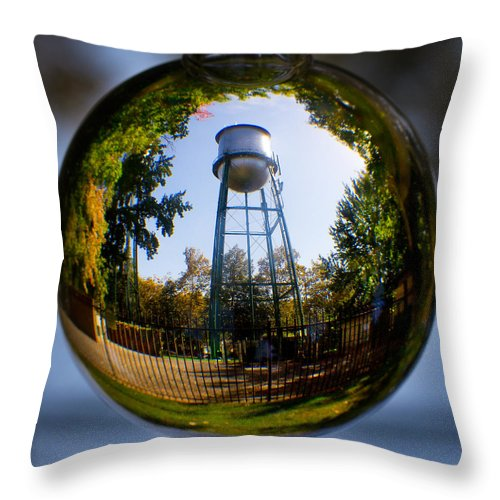 Water Throw Pillow featuring the photograph Chico Water Tower by Robert Woodward