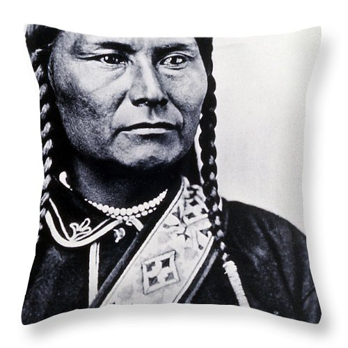 History Throw Pillow featuring the photograph Chief Joseph Nez Perce Leader by NPS Photo