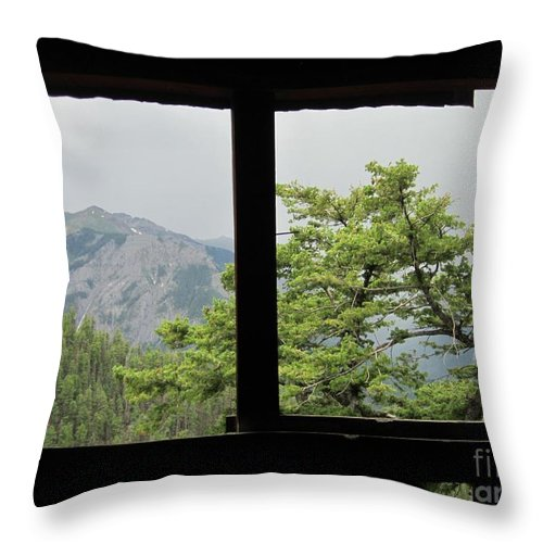 Chief Ouray Mine Throw Pillow featuring the photograph Chief Ouray Mine View by Tonya Hance